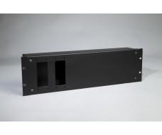 3U-Cover box 2xHarting