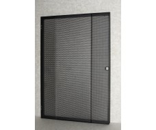 21U-Rack front door-black