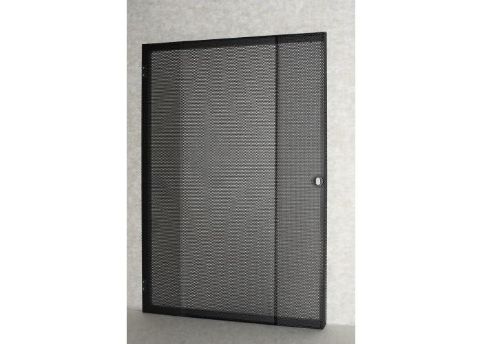 21U-Rack front door-black